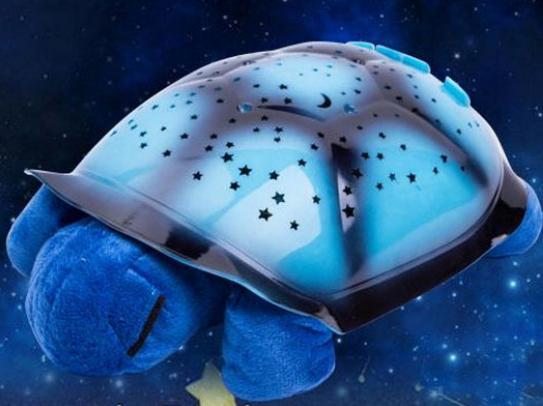 Magická svítící a hrající želva - modrá