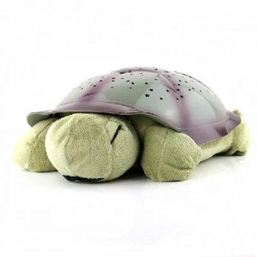 Magická svítící a hrající želva - tmavě zelená
